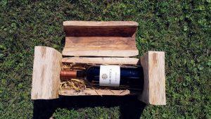 Lesena škatla za steklenice